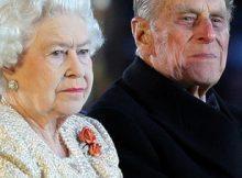 La Regina Elisabetta II e il Duca di Edimburgo arrivano al Diamond Jubilee Pageant a Windsor, Berkshire.